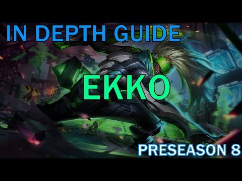 In Depth Guide to Ekko Jungle (Preseason 8) || League of Legends