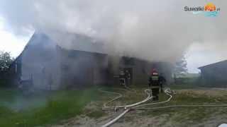 Pożar starej obory w Poddubówku