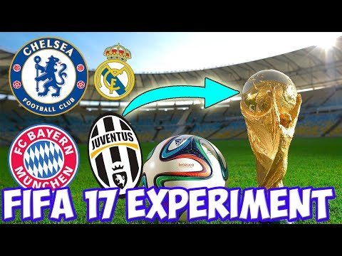 WHAT IF THE WORLD CUP HAD THE CLUBS INSTEAD OF NATIONS? - FIFA 17 CAREER MODE EXPERIMENT