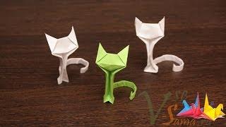 Оригами - кошечка (Origami - the cat)