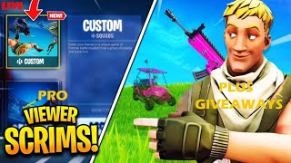 *LIVE* FORTNITE CUSTOM MATCHMAKING PRO SCRIMS NA EAST (Plus Giveaway) Winners get Shoutouts