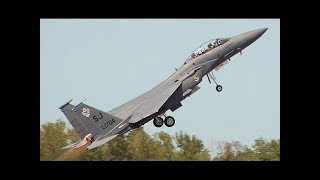 MOST FEARED US Air Force F-15 pilots flying in Razor Talon Exercise