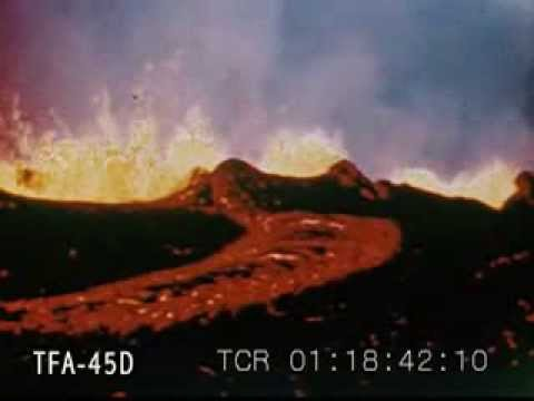 Mauna Loa Erupts 1950