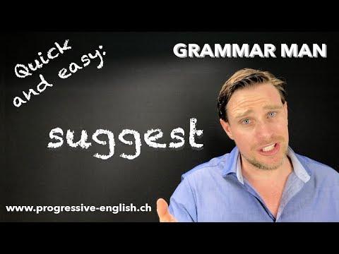 SUGGEST | English common errors | Grammar lesson with GRAMMAR MAN