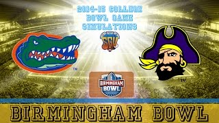 Birmingham Bowl Sim - Florida vs East Carolina (NCAA Football 14 - Xbox 360)
