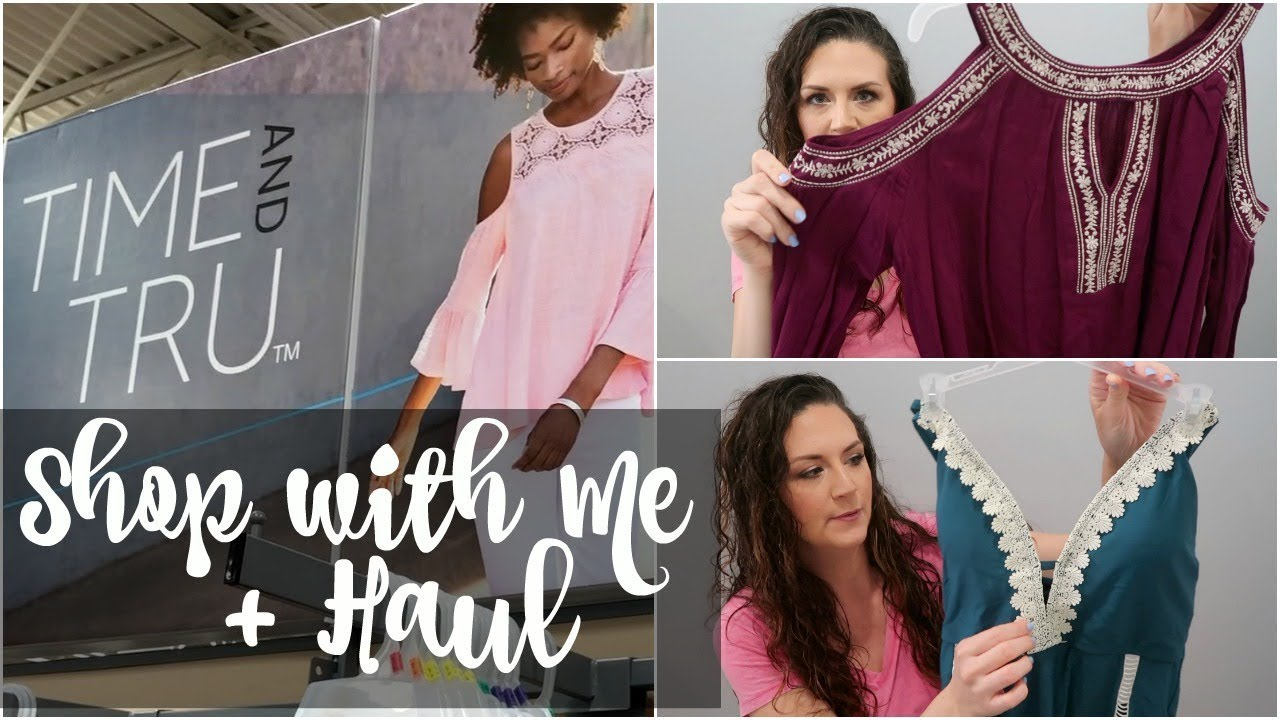 bc21ba83e Shop With Me + Haul | Time And Tru Walmart Brand | Affordable Clothing