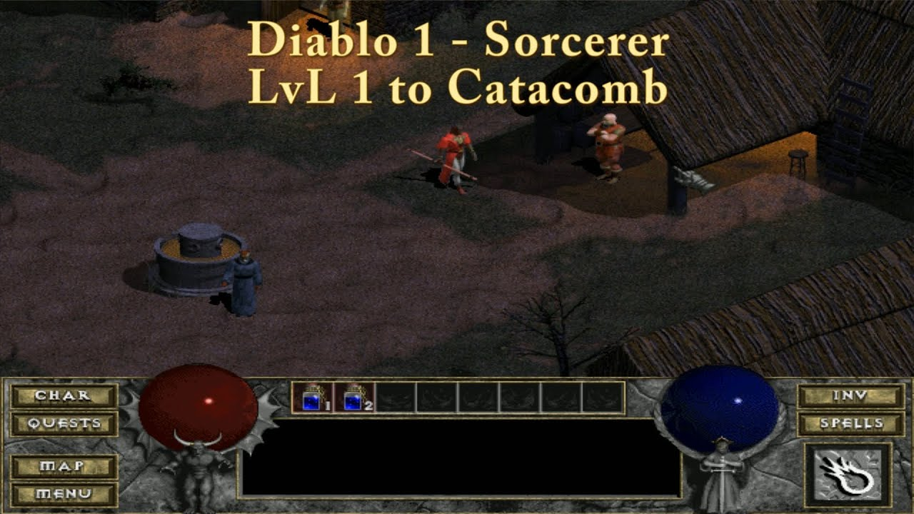diablo 1 let 39 s play sorcerer lvl 1 to catacomb youtube. Black Bedroom Furniture Sets. Home Design Ideas