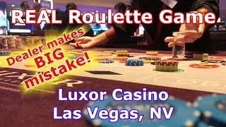 REAL Roulette Game - DEALER SCREWS UP - Luxor Casino, Las Vegas, NV - LR#4 - Inside the Casino