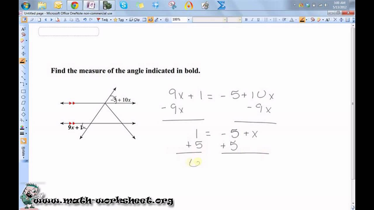 Geometry Parallel Lines and the Coordinate Plane Parallel – Parallel Lines and Transversals Worksheets