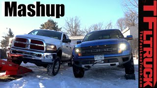 2016 ram power wagon vs ford raptor suspension flex battle