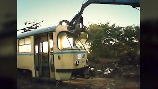 Good bye Tatra - Brutale Verschrottung der DDR Tram T4D