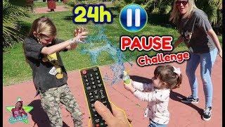 PAUSE CHALLENGE POR 24 HORAS CON MI FAMILIA Y AMIGOS!! Daniela la lía MUCHO