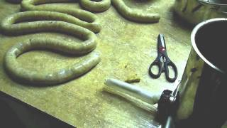 "How To Make Homemade Sausage (Part 7 of 8) ""Stuffing The Casings"""