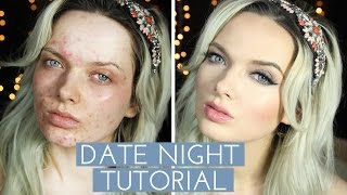 ACNE COVERAGE // DATE NIGHT MAKE UP TUTORIAL // MyPaleSkin