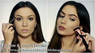 Beginners Talk Through Makeup Tutorial | Eyebrow & Contouring Routine