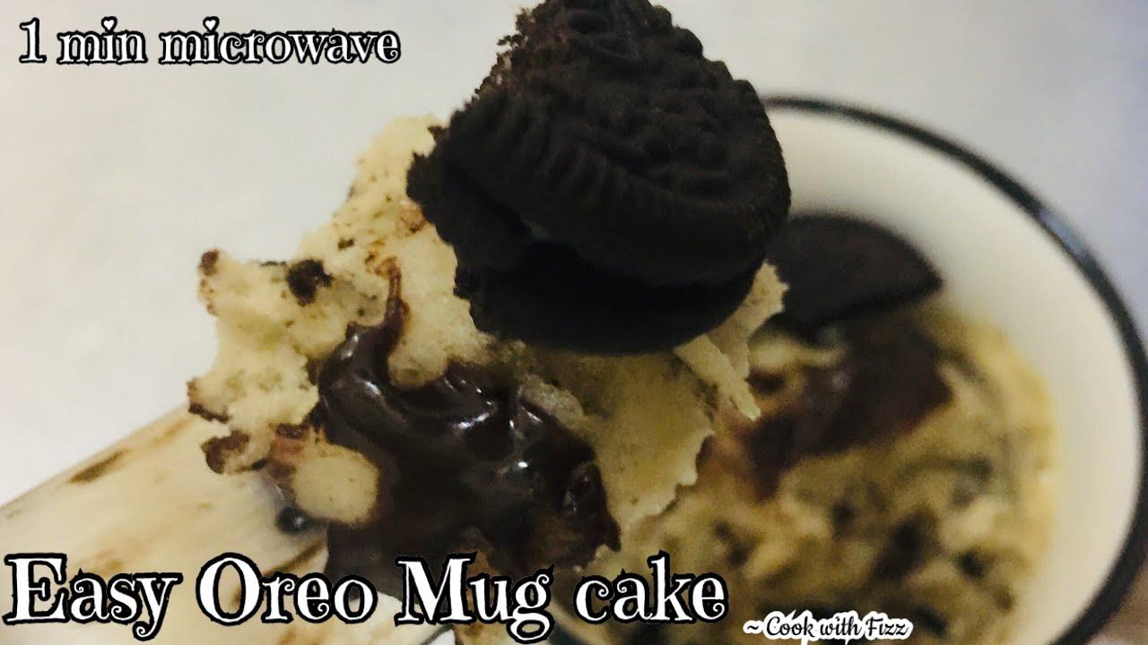 How to make Oreo Mug Cake at home - Easy 1 min Oreo Mug ...