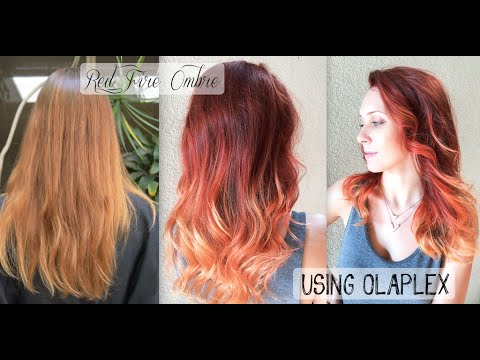 Red Fire Balayage Ombre Hair Using Olaplex Schwarzkopf Youtube