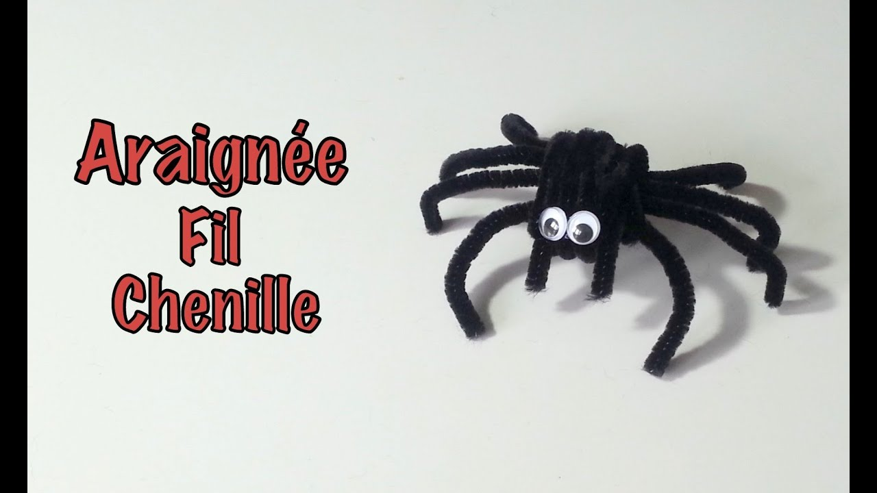 Diy d co halloween araign e fil chenille youtube - Comment faire fuir les araignees ...