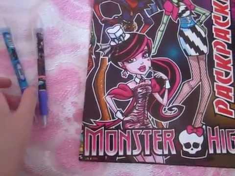Моя раскраска ,,Монстр хай и 2-е ручки.
