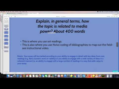 Writing your essay using Nvivo coding and annotation functions