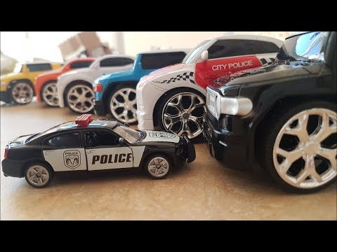 toy police Car Open a box of toys Cars