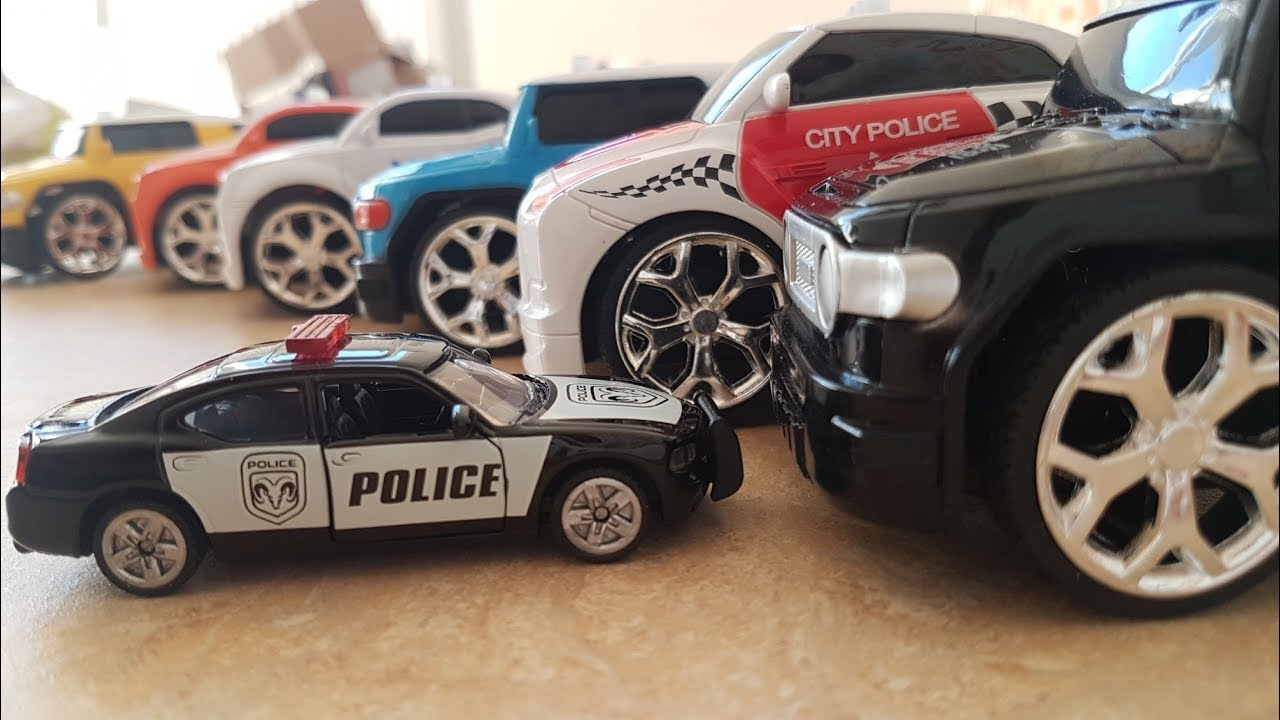 police car open a box of police cars police car for kids police cars for children