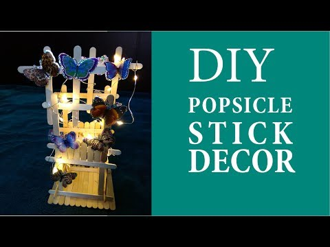 How to Make a Beautiful Butterfly Decor Using Popsicle Sticks