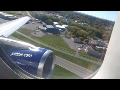 jetBlue Airways Airbus A320-232 Takeoff from Albany