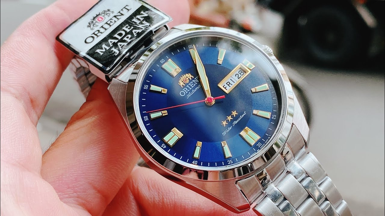 [ Rẻ Đẹp ] ORIENT 3 SAO AUTOMATIC BLUE SAB0C002D8-B | TIMEWISE