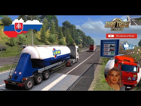Euro Truck Simulator 2 (1.32) New Slovakia Map by KimiSlimi