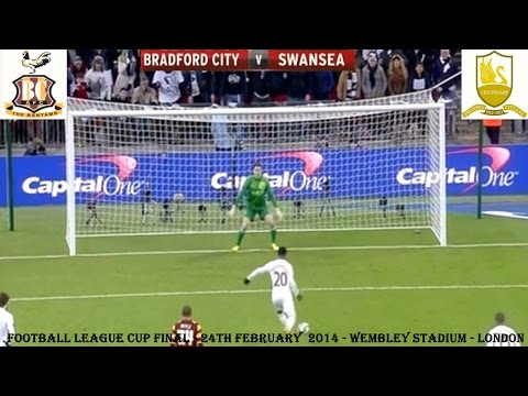 BRADFORD CITY V SWANSEA CITY - FOOTBALL LEAGUE CUP FINAL - 24TH FEBRUARY 2013 - WEMBLEY- PART ONE