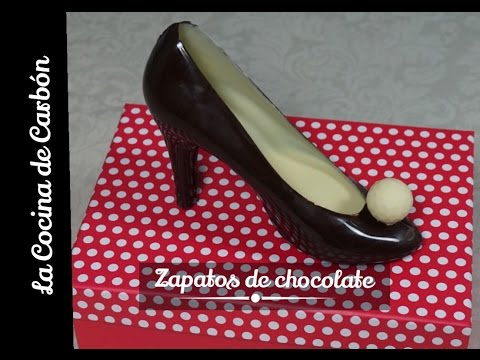 C mo hacer zapatos de chocolate tutorial san valent n for Zapatos de cocina