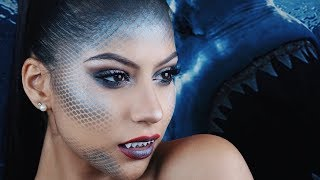 Glam SHARK Halloween Makeup Tutorial | Mermaid Makeup