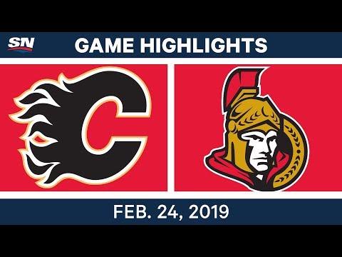 NHL Highlights | Flames vs. Senators - Feb 24, 2019