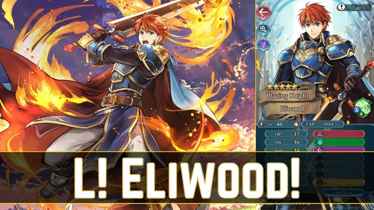 Unexpected Stats! L! Eliwood Hits Hard! (´・ᴗ・ ` ) Legendary Eliwood  Overview! 【Fire Emblem Heroes】