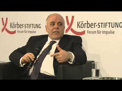 H.E. Dr. Haider Al-Abadi, Prime Minister of the Republic of Iraq, gave speech in Berlin