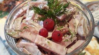 Салат с ветчиной и грибами   Ну Оочень Вкусный