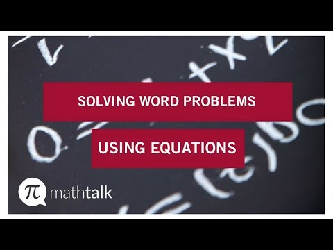 Solving Word Problem Using Equations