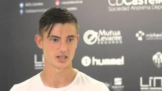 Declaraciones de Álvaro Gómez tras su convocatoria en Copa del Rey ante el CE Sabadell (01/09/2015)