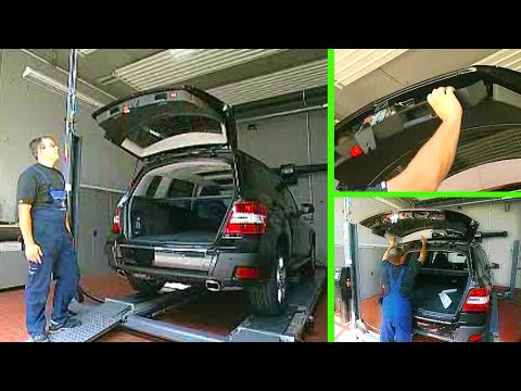 mercedes benz glk innenverkleidung heckklappe aus einbauen w204 9 youtube. Black Bedroom Furniture Sets. Home Design Ideas