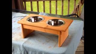 Wooden Dog Bowl Stands