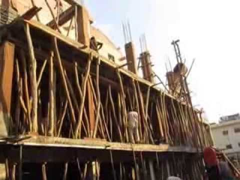 Building Construction in New Delhi India