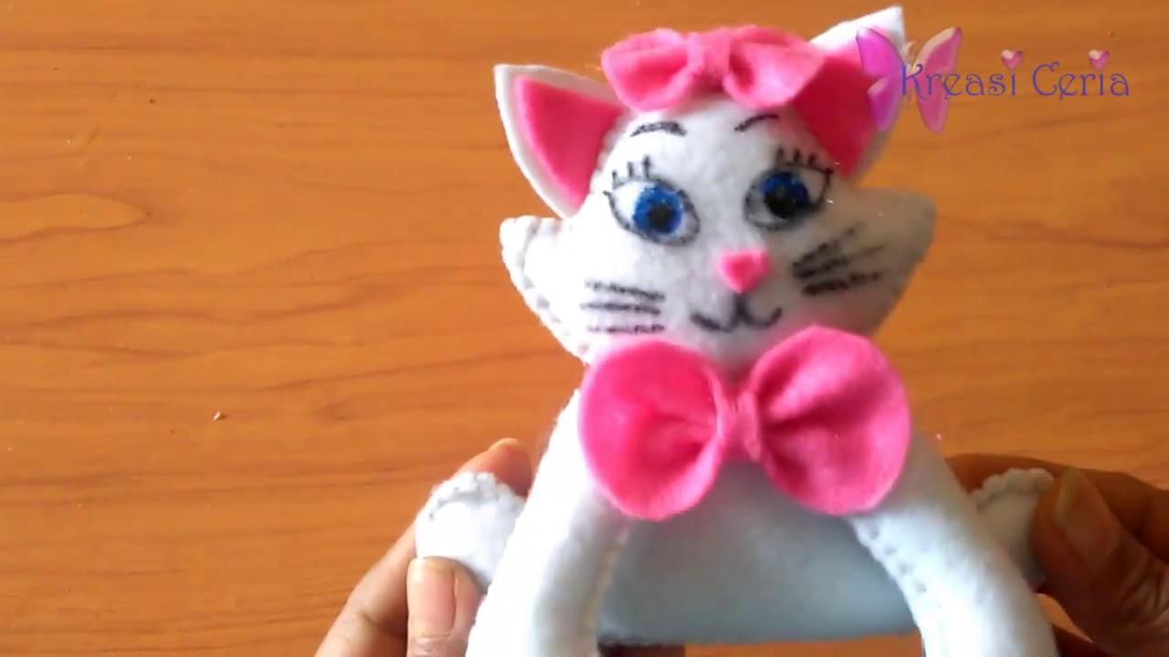 Cara Membuat Boneka Kucing Angela Dari Kain Flanel