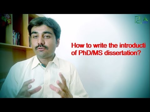 How To Write The Introduction Chapter Fo PhD  Or MS Dissertation