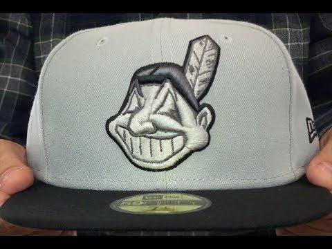 c51f9ab8 Indians 'CHIEF-WAHOO' Light Grey-Black Fitted Hat by New Era - YouTube