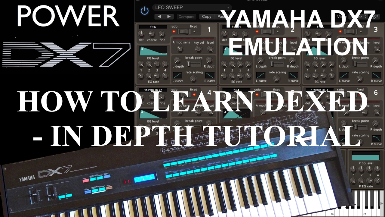 How To Learn Dexed Part 1 - Unboxing and Comparing Yamaha DX7 Synthesizer  Parameters