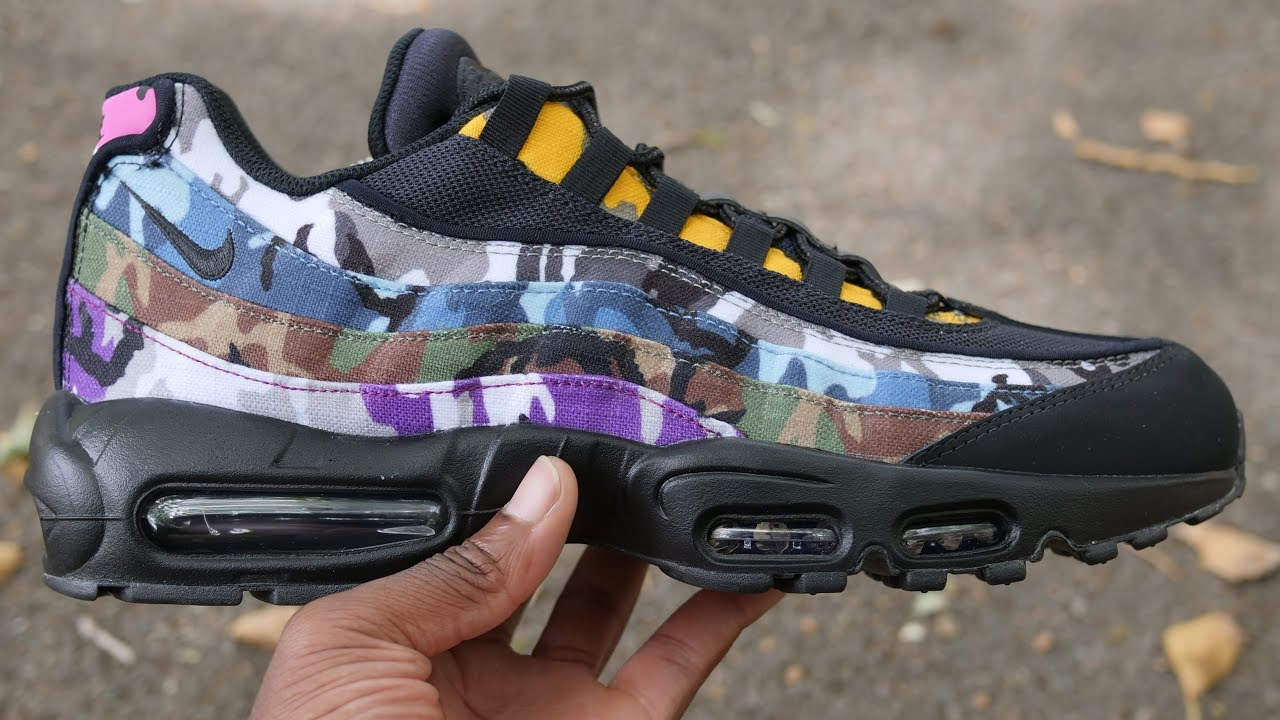 best website 22229 f09de Air Max 95 ERDL Party Quick Look & On Feet (Black Camo Multicolour)