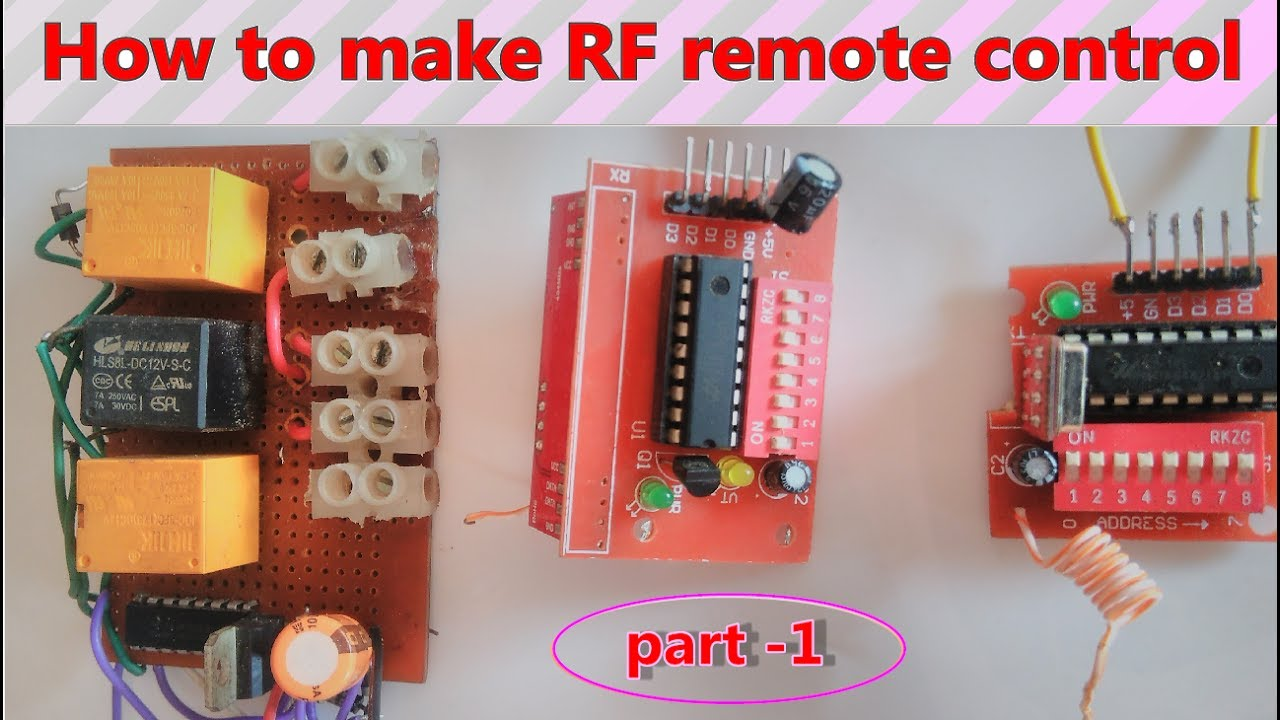 Wireless Rf Remote Control Make At Home Electrical Appliance Part 1 How To Wiring