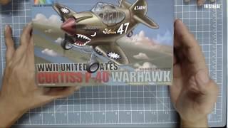 tiger model Q版P-40戰鷹戰鬥機模型組裝
