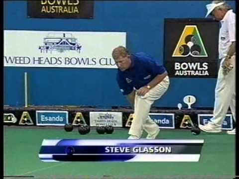 Lawn Bowls: 2001 Aust Indoor Steve Glasson Vs Ian (Tails) Taylor
